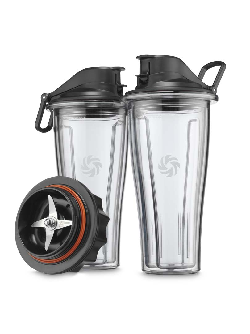 Vitamix Ascent TO 600ml Cups & Lids With Base