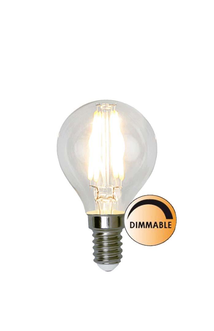 Globen Lighting Lyspære LED 351-23 Filament  Space Klar 5W Dimbar E14
