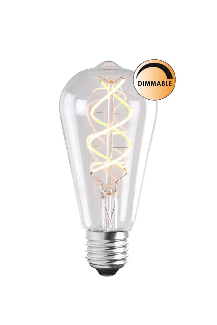 Globen Lighting Lyspære LED Soft Filament Dimbar Klar Uniterm E27