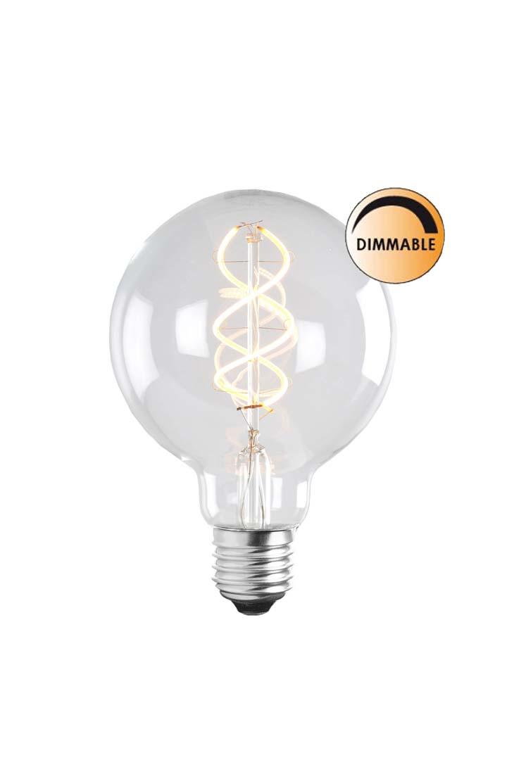 Globen Lighting Lyspære LED Soft Filament Dimbar Klar 100 mm
