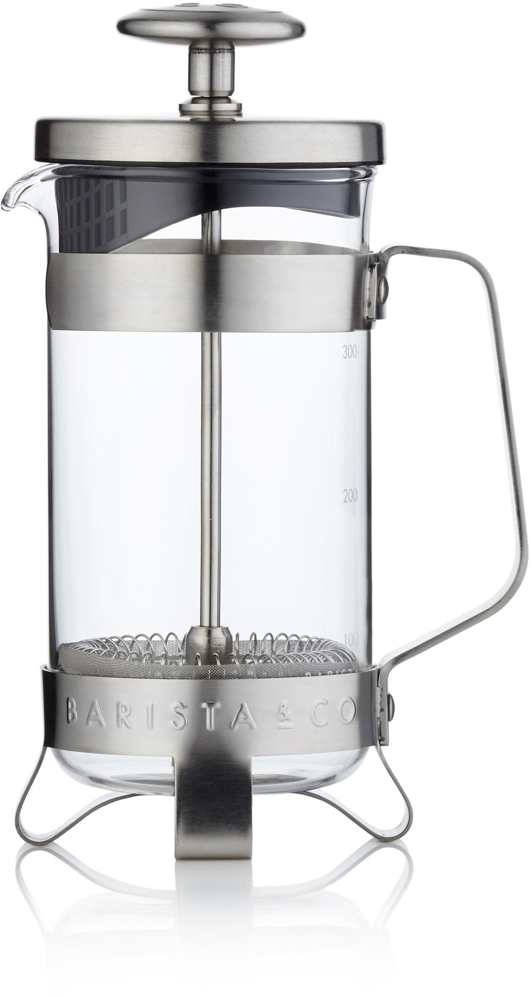 Barista & Co Stempelkanne børstet stål 3 kopper