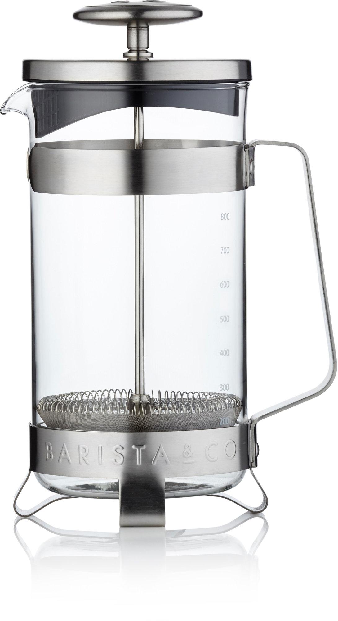 Barista & Co Stempelkanne børstet stål 8 kopper