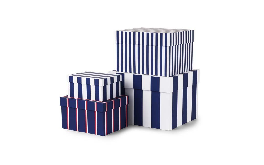 Tivoli Boxar med ränder 4 St. Royal Blue