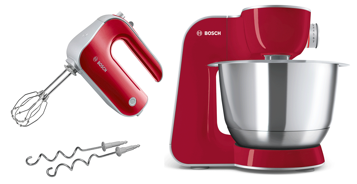 Bosch Köksmaskin MUM5 CreationLine Djupröd/Silver + Elvisp Djupröd StyLine