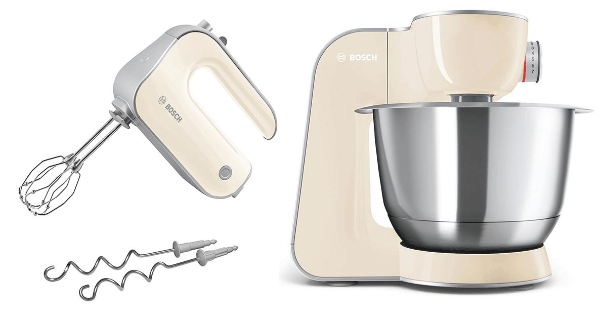 Bosch Köksmaskin MUM5 CreationLine Vanilj/Silver + Elvisp Vanilj StyLine
