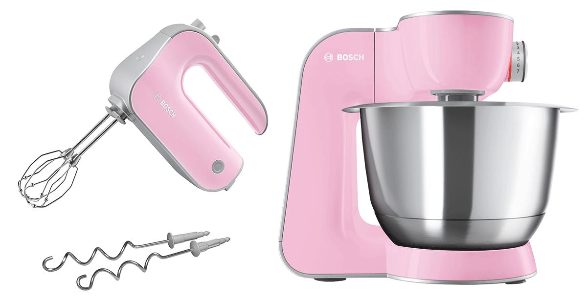 Bosch Köksmaskin MUM5 CreationLine Rosa/Silver + Elvisp Rosa StyLine