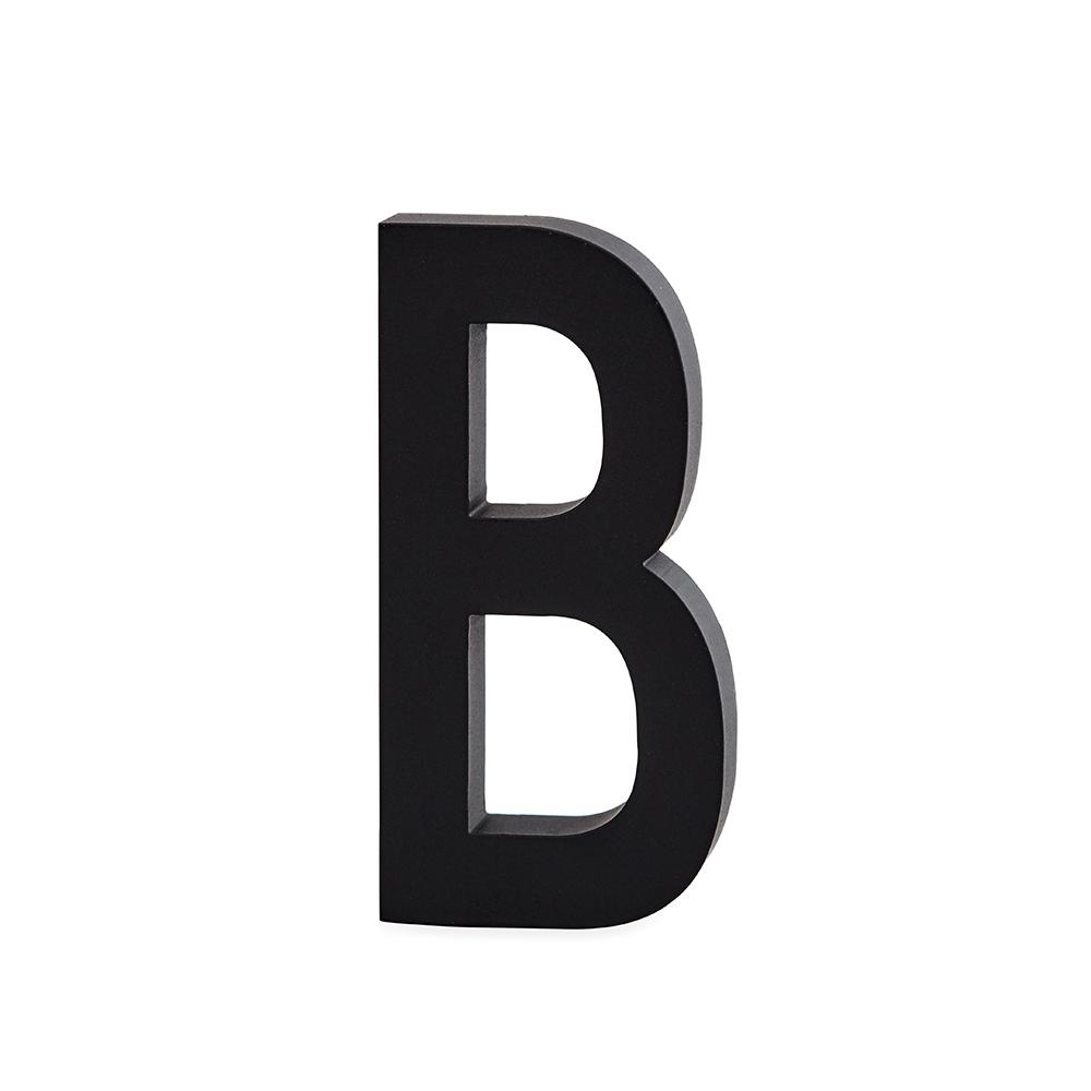 Design Letters Bokstav Grå i Aluminium 50 mm, B