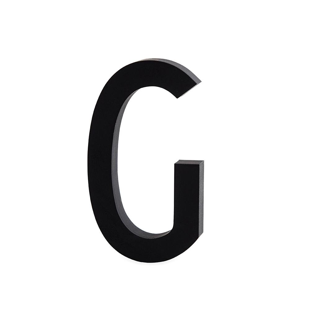 Design Letters Bokstav Grå i Aluminium 50 mm, G