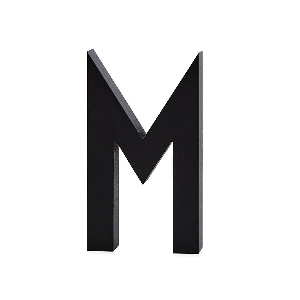 Design Letters Bokstav Grå i Aluminium 50 mm, M