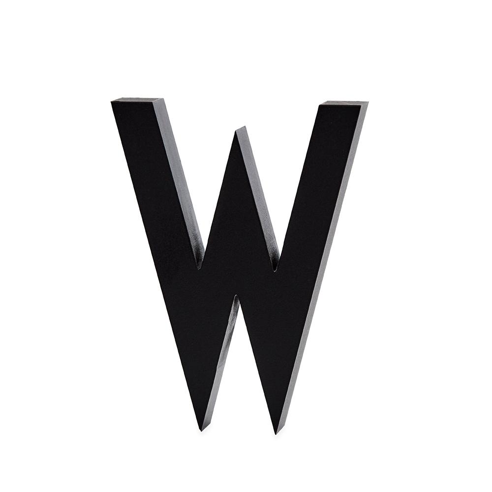 Design Letters Bokstav Grå i Aluminium 50 mm, W