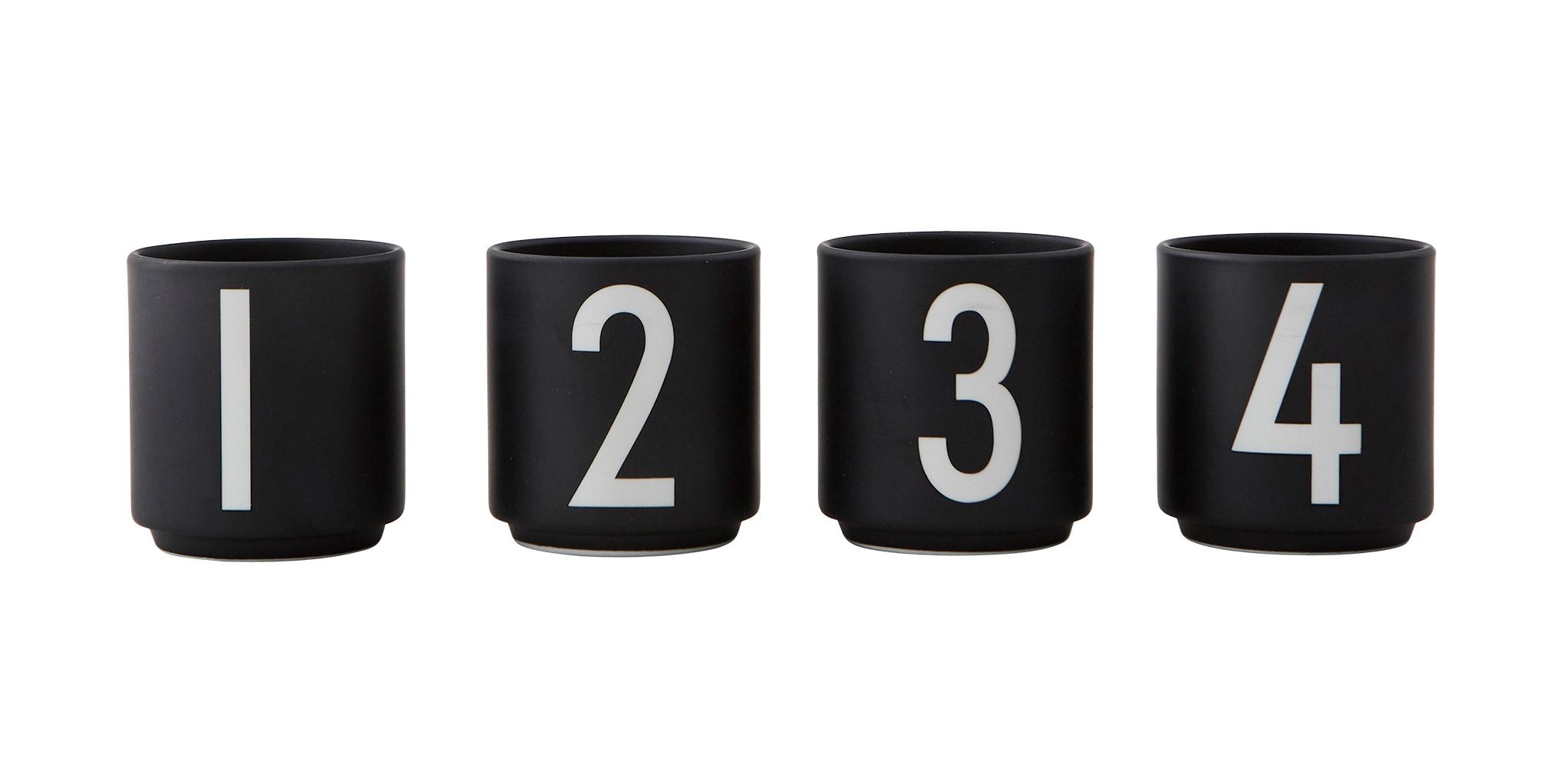 Design Letters Espressomugg Svart 4-st 1,2,3,5