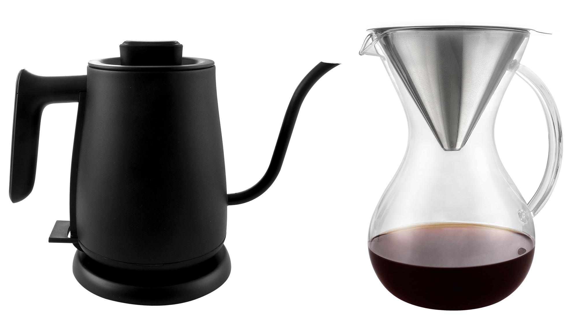Barletta Pour Over vannkoker + Pour Over glasskanne