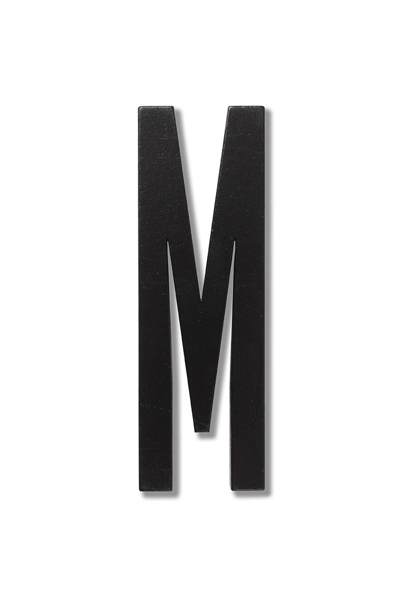 Design Letters Svart Bokstav i Trä, M