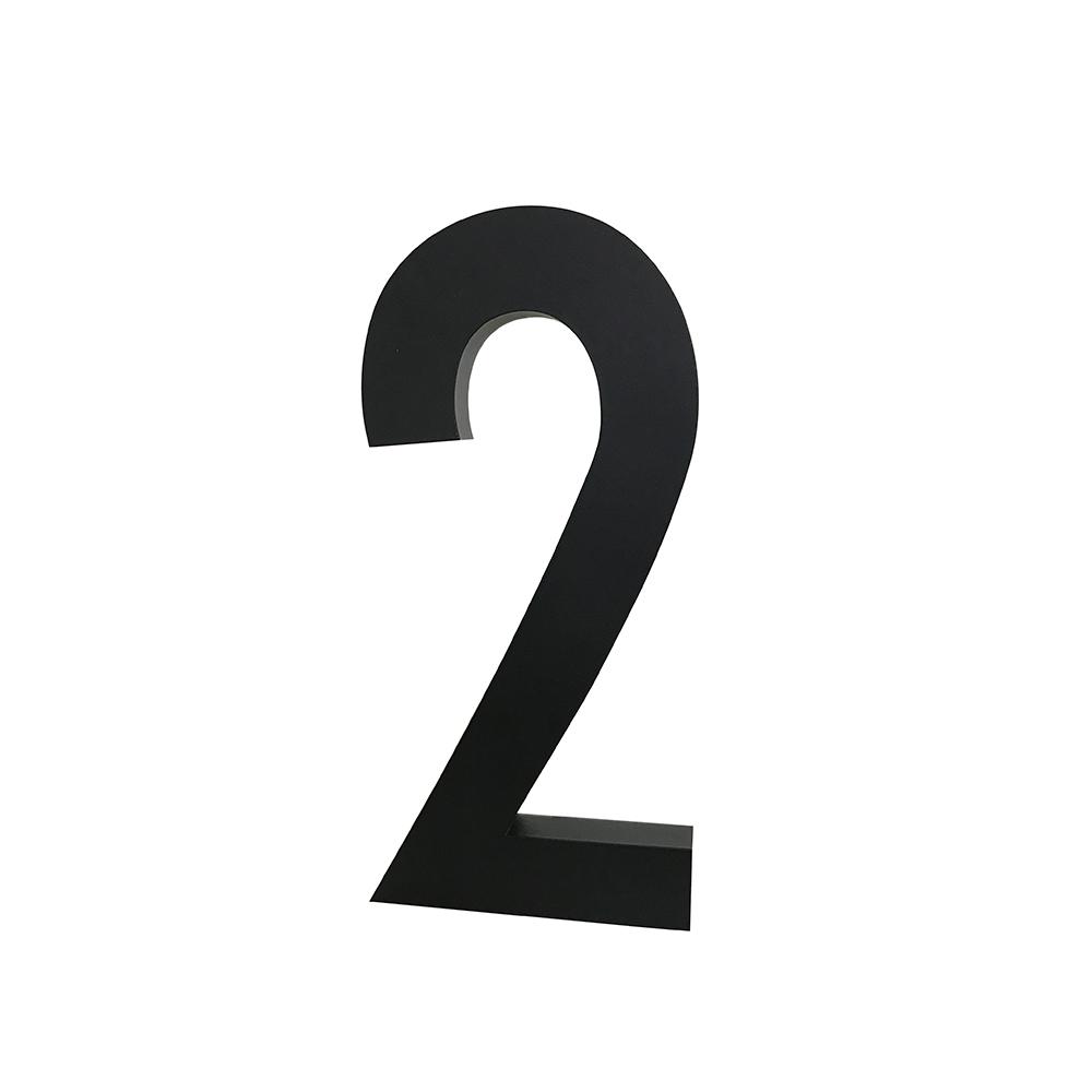 Design Letters Siffra Grå i Aluminium 50 mm, 2