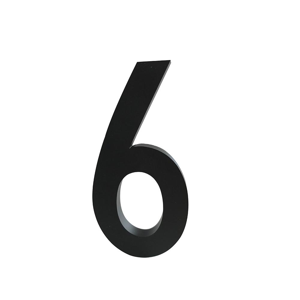 Design Letters Siffra Grå i Aluminium 100 mm, 6
