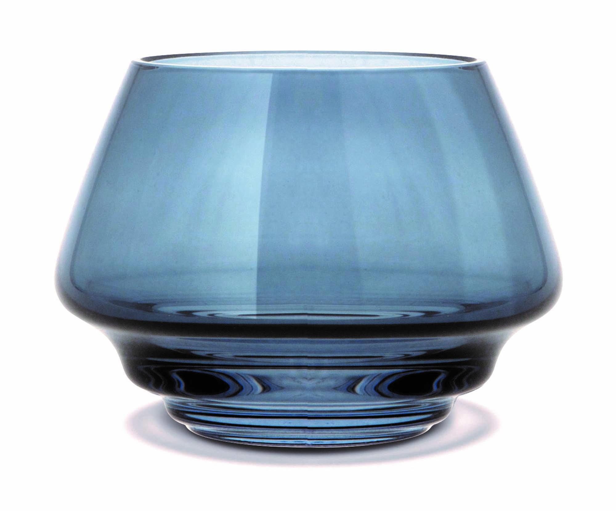 Holmegaard Flow Ljuslykta blå Ø10