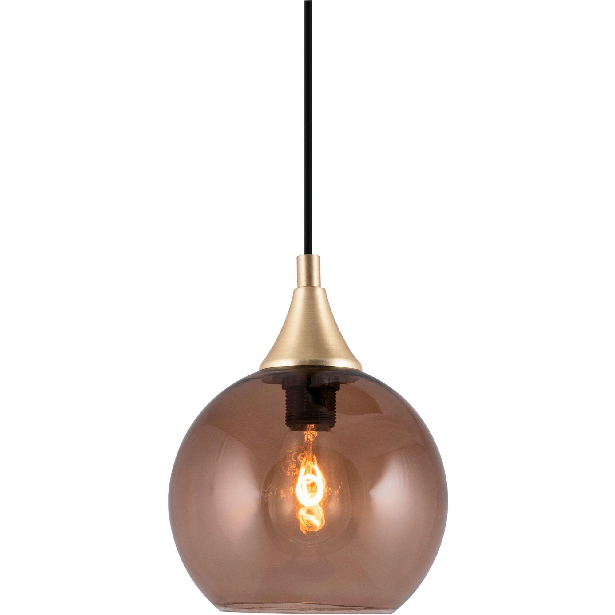 Globen Lighting Bowl Mini Pendel brun
