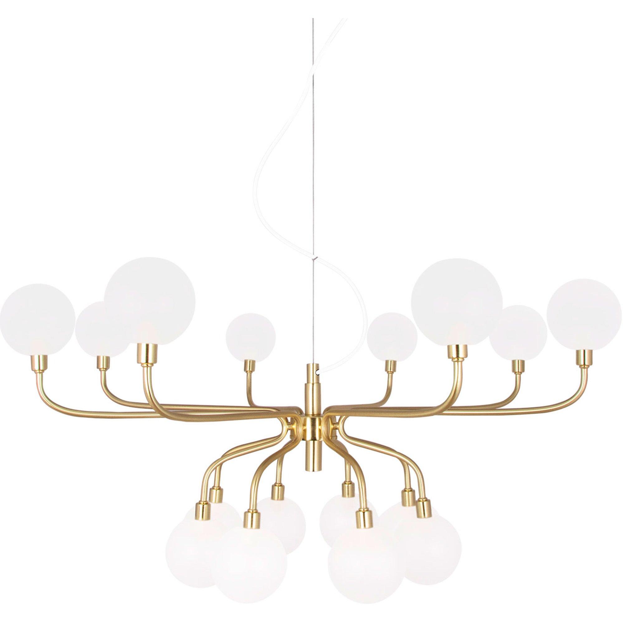Globen Lighting Mandrino Pendel borstad mässing