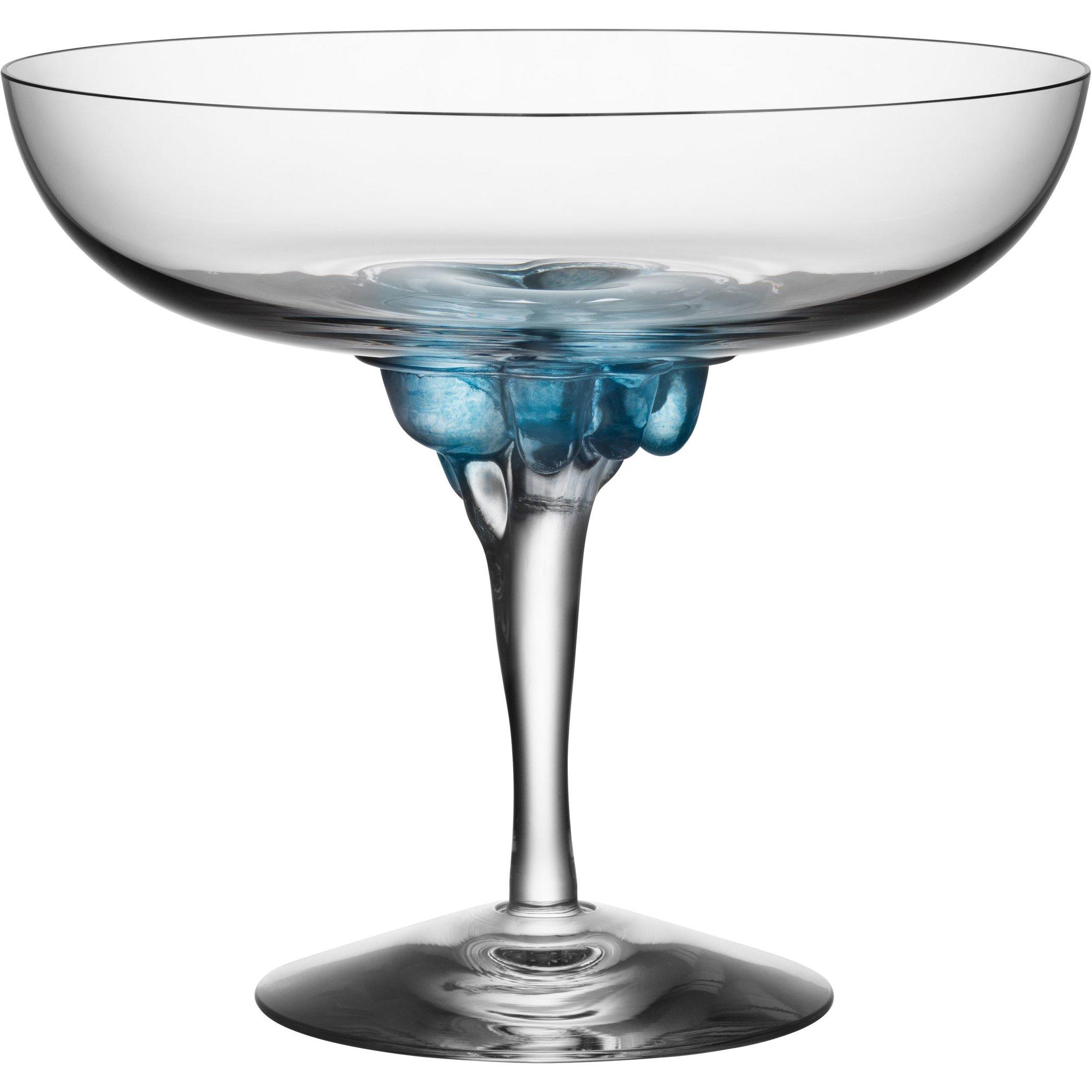 Kosta Boda Sugara Dandy Coupe Glas 32 cl. Blå