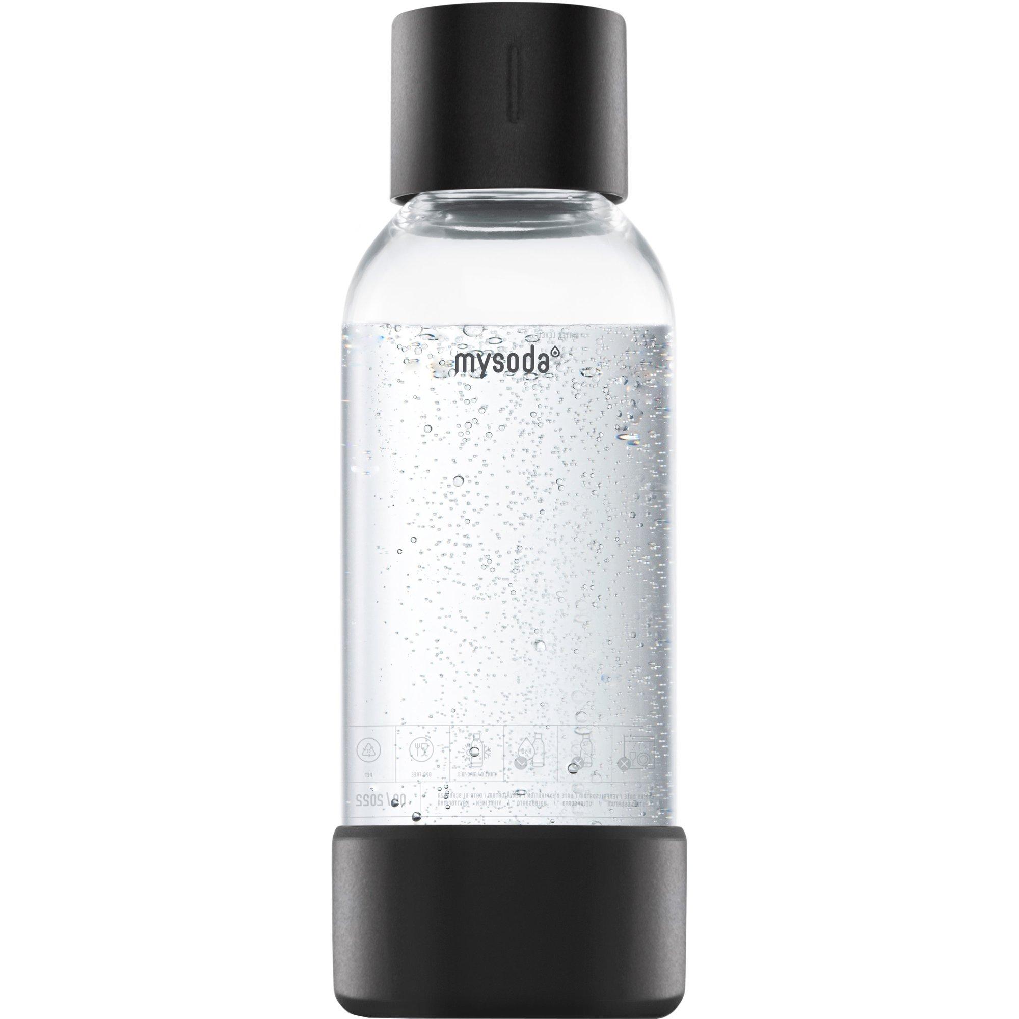 MySoda Vattenflaska 05 liter Svart
