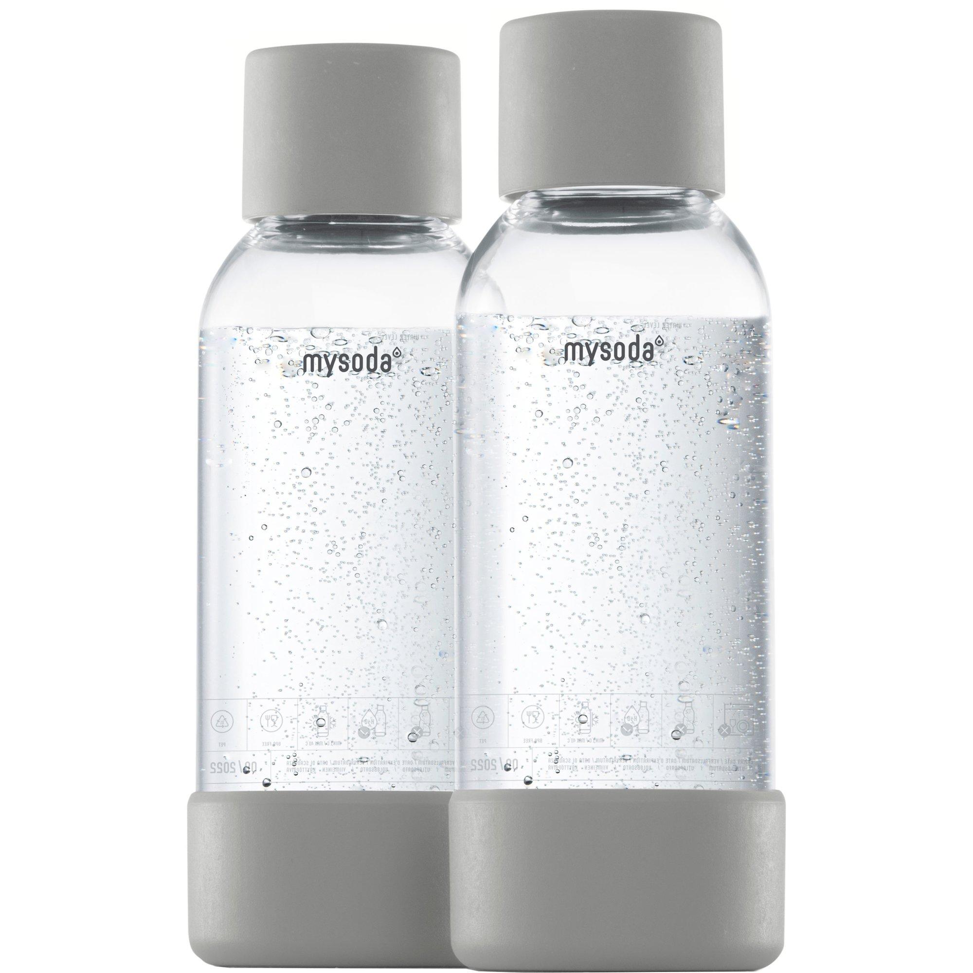 MySoda Vattenflaska 05 liter 2 st. Grå