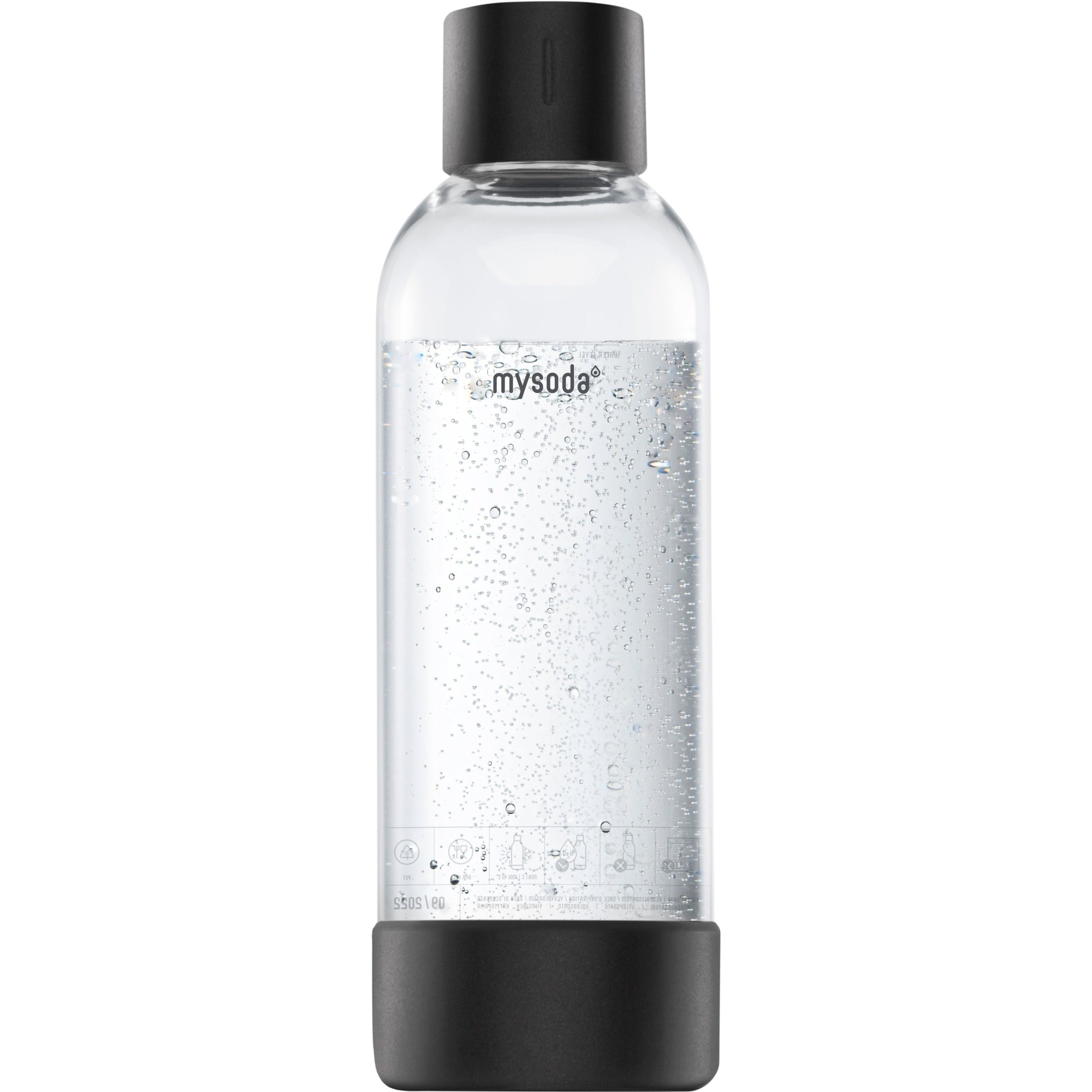 MySoda Vattenflaska 1 liter, Svart