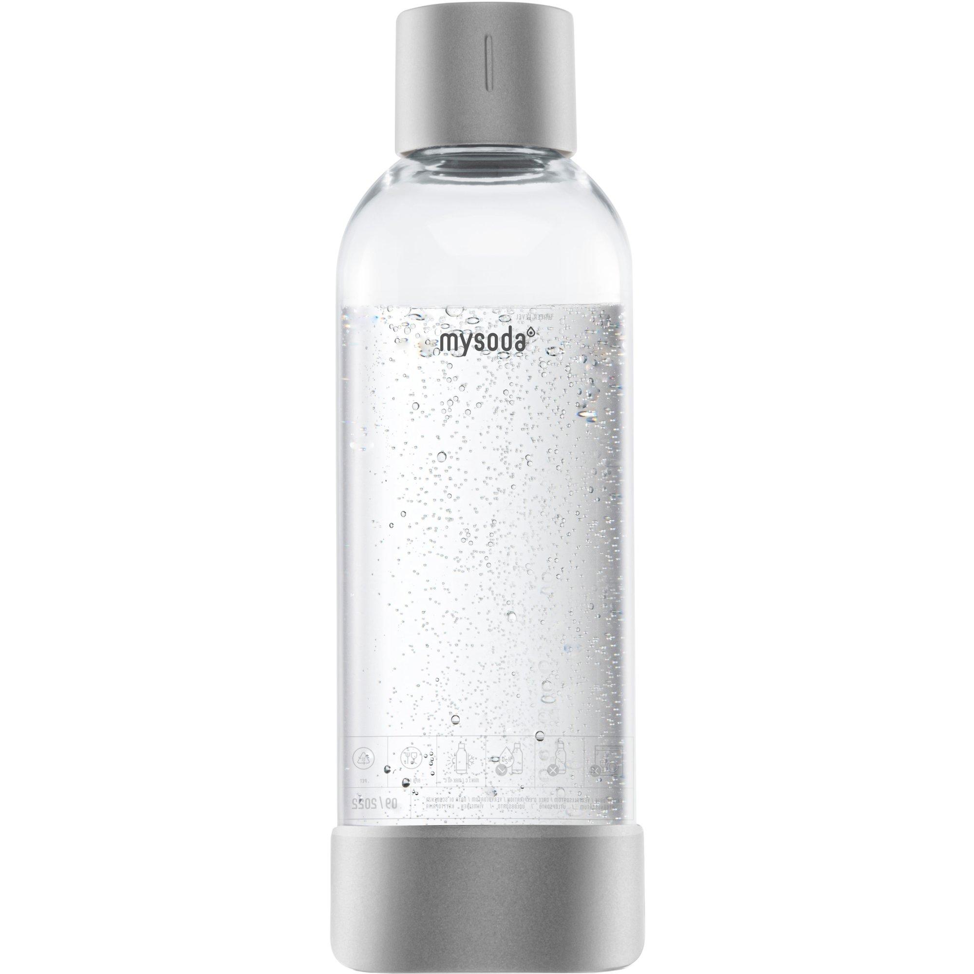 MySoda Vattenflaska 1 liter Silver