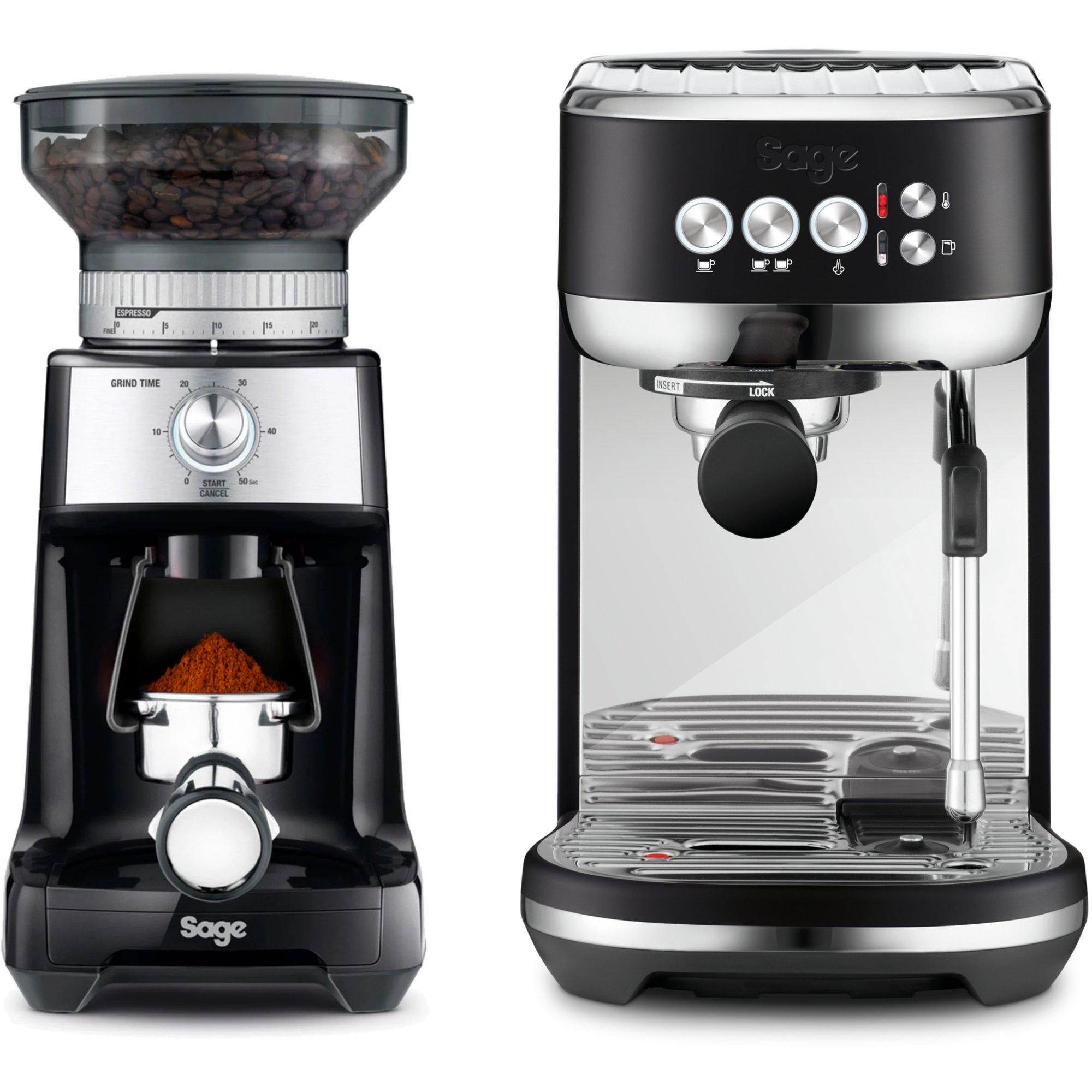 Sage The Bambino Plus espressomaskin & kaffekvarn svart