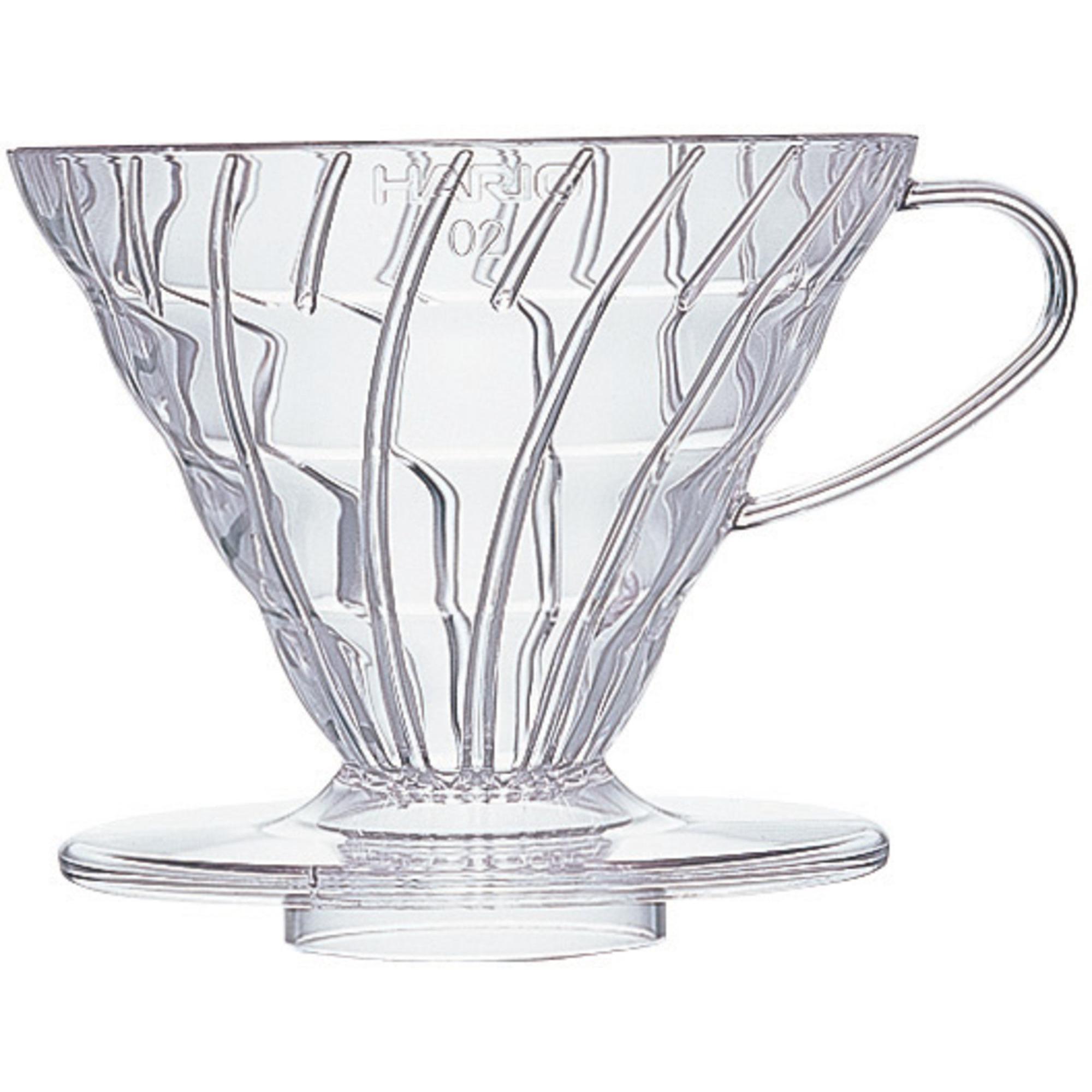 Hario 2 Cup Dripper V60 klar plast