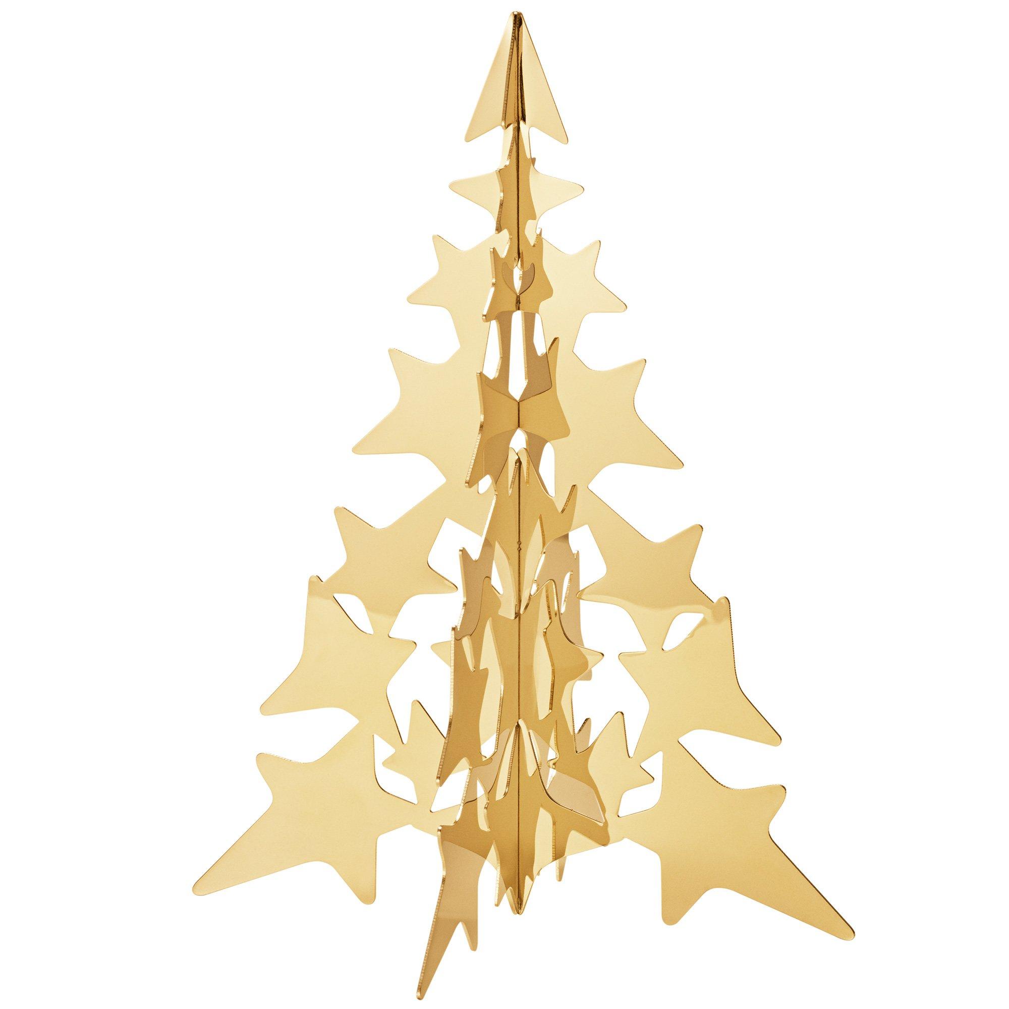 Billede af 2021 guld juletræ, medium