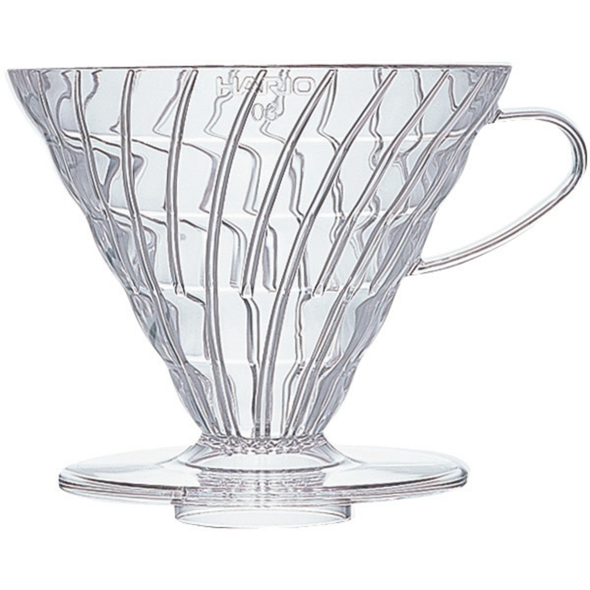 Hario 3 Cup Dripper V60 klar plast