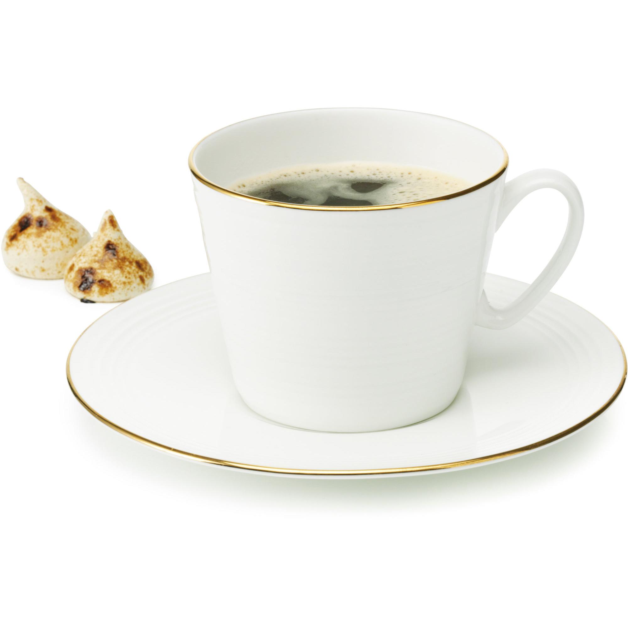 Aida Passion Kaffekopp 30 cl Cremevit/Guld 4 st