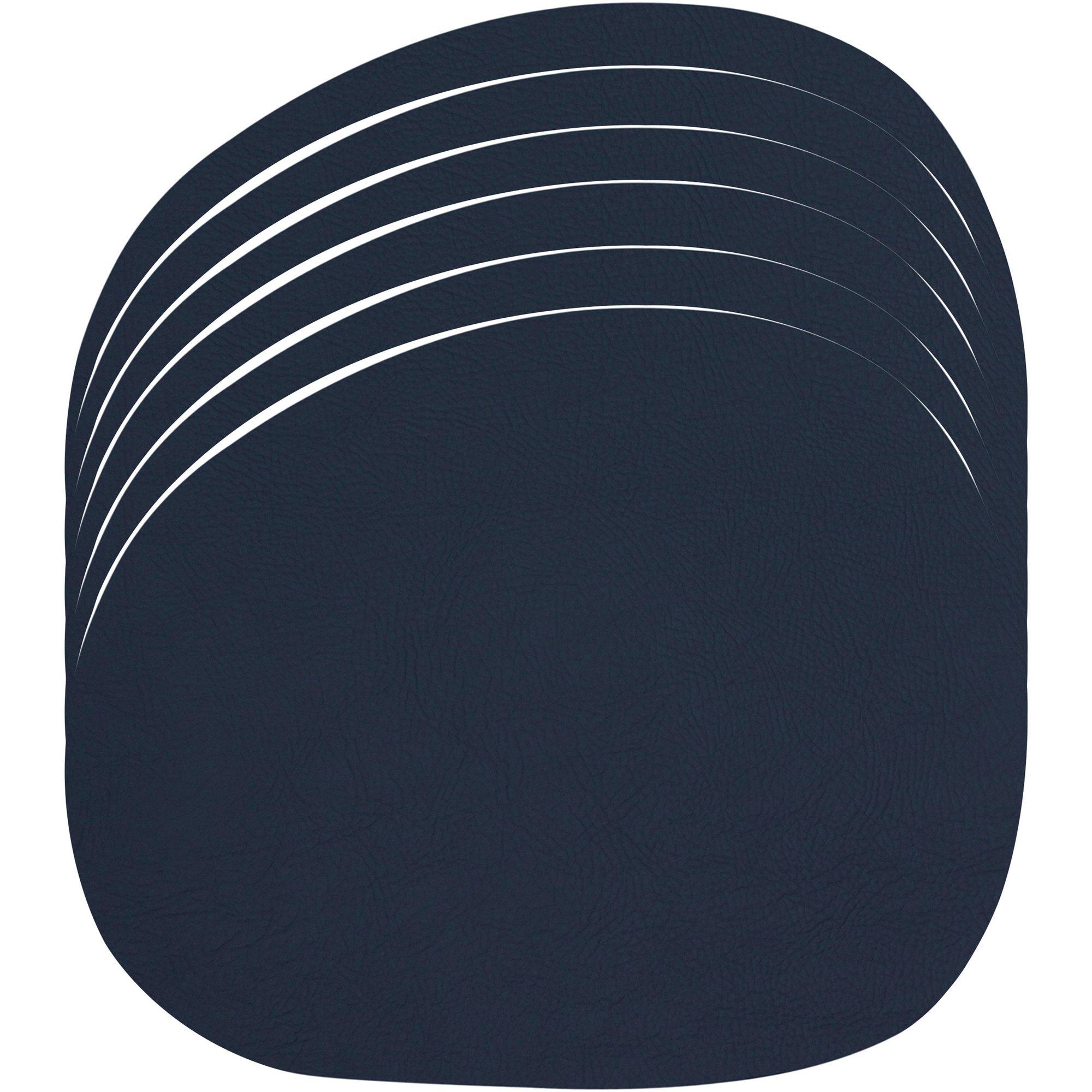 Aida RAW Bordstablett Återvunnet läder 6 st. Mörkblå