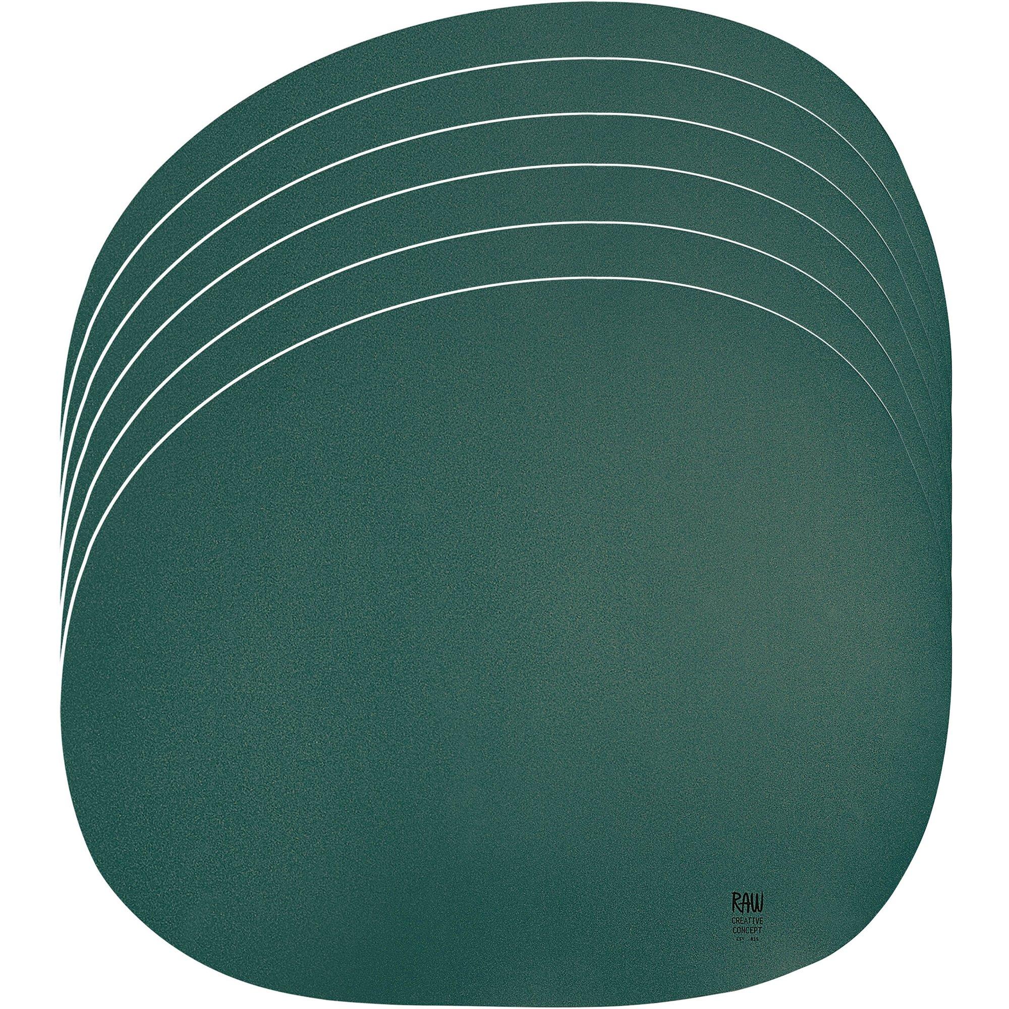 Aida RAW Organic Bordstablett 6 st. mörk grön