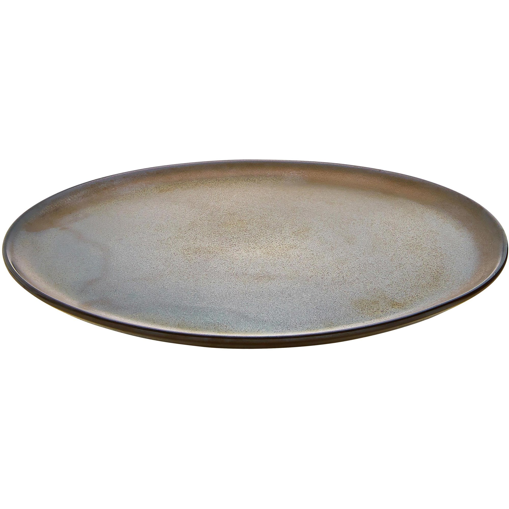 Aida RAW tallrik metallisk brun