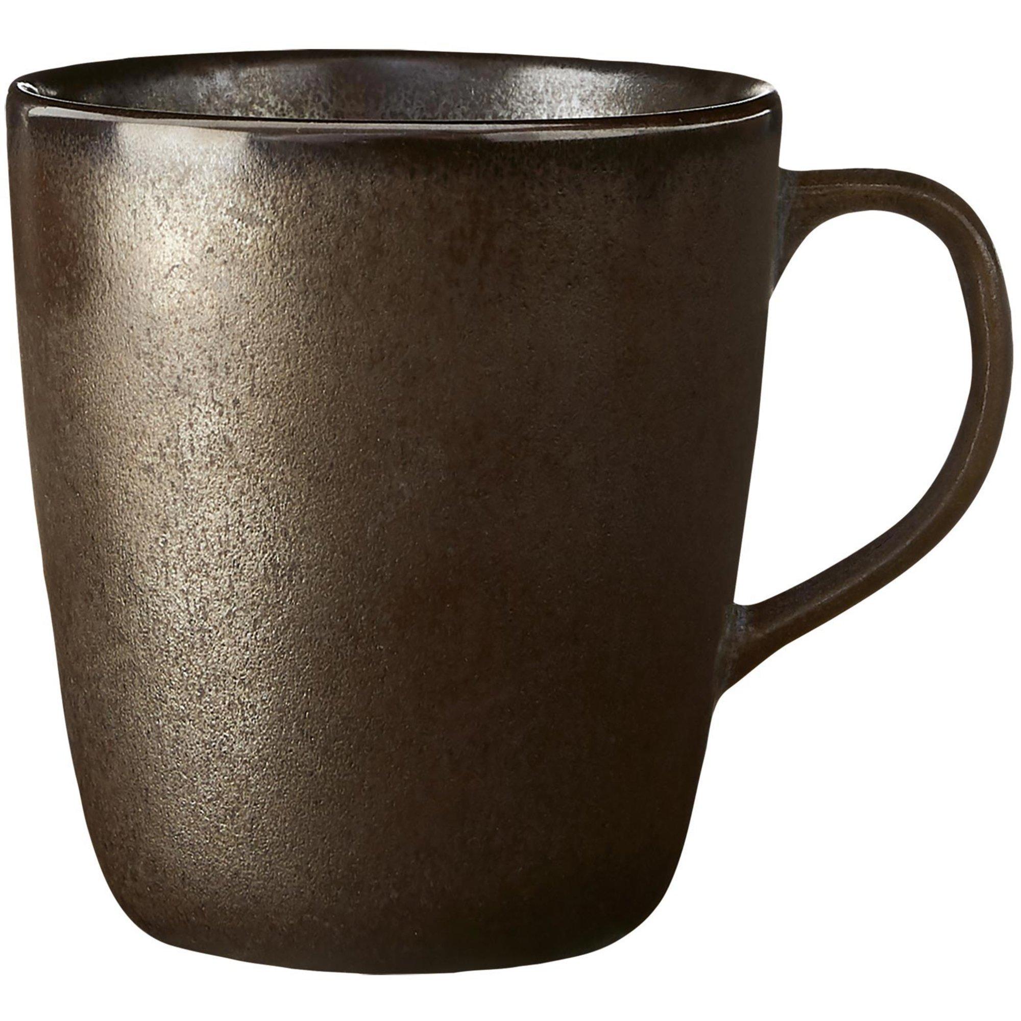 Aida RAW mugg med öra metallisk brun 35 cl.