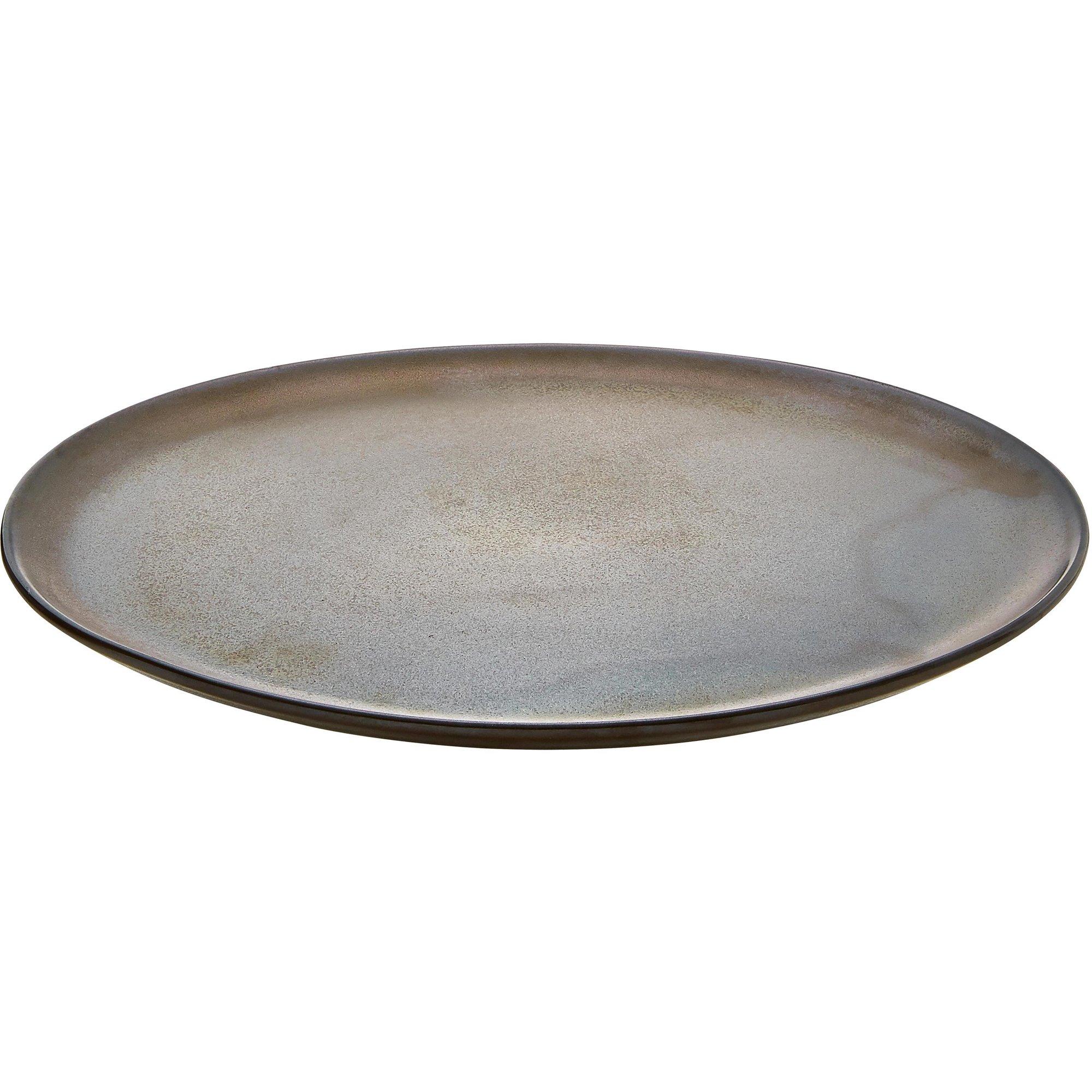 Aida RAW middagstallrik, metallisk brun