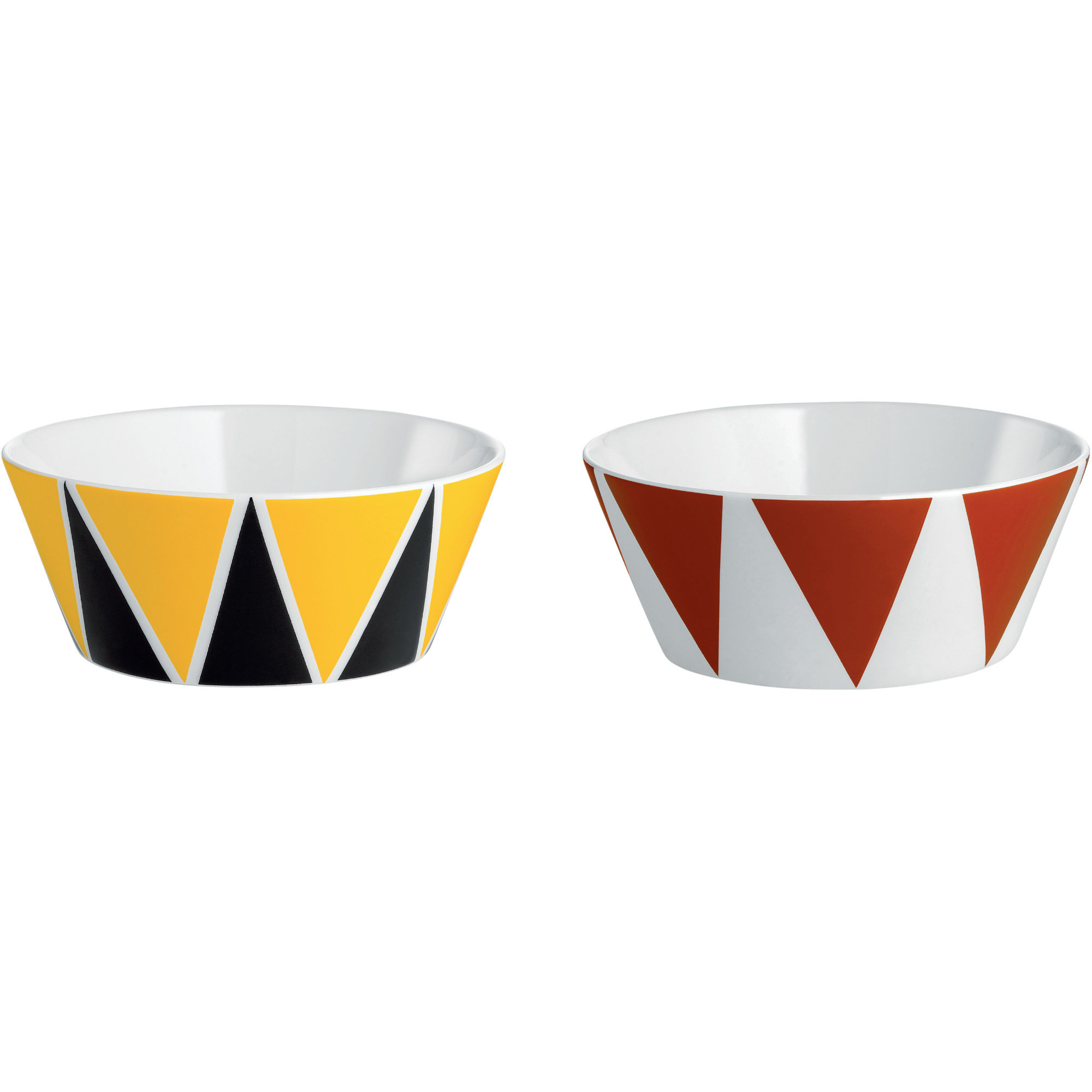 Alessi Circus Skålar 11 cm 2-pack Trianglar