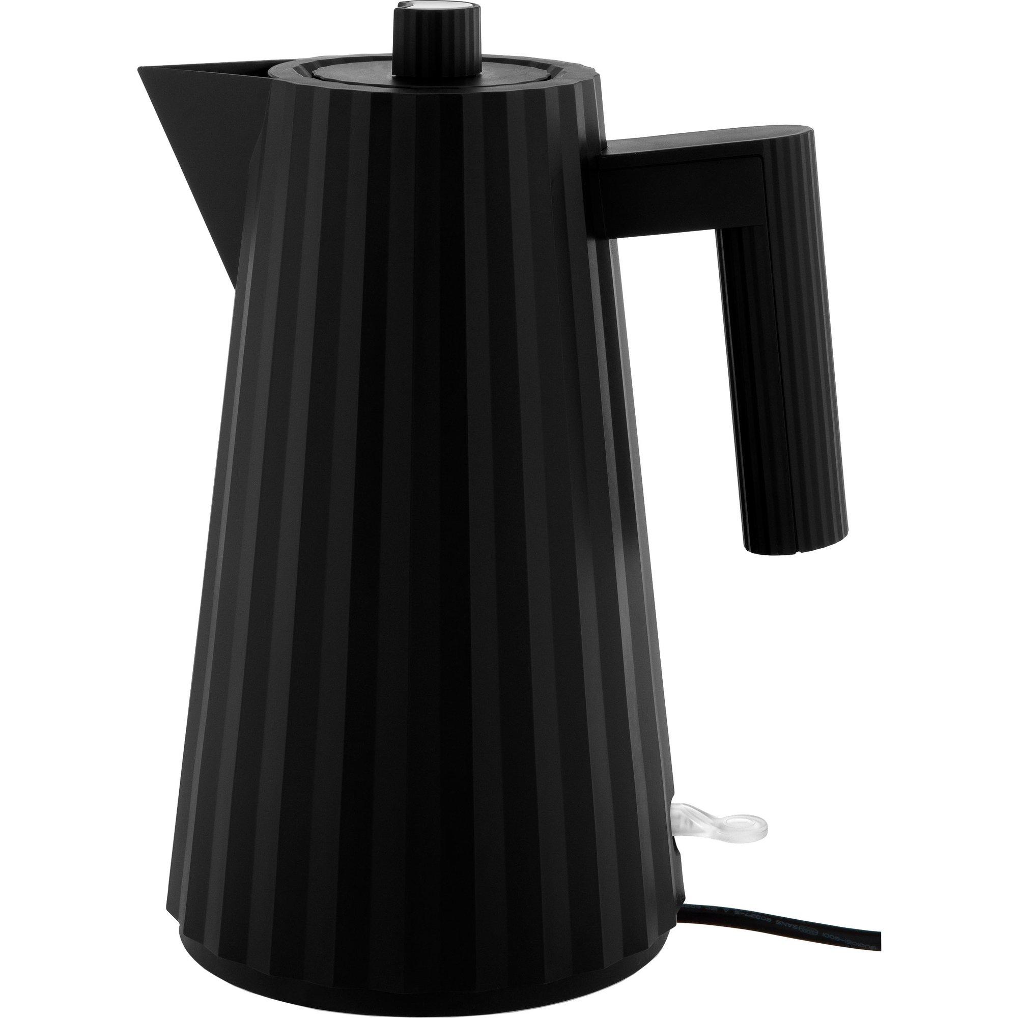 Alessi MDL06 Plissé vattenkokare 17 liter svart