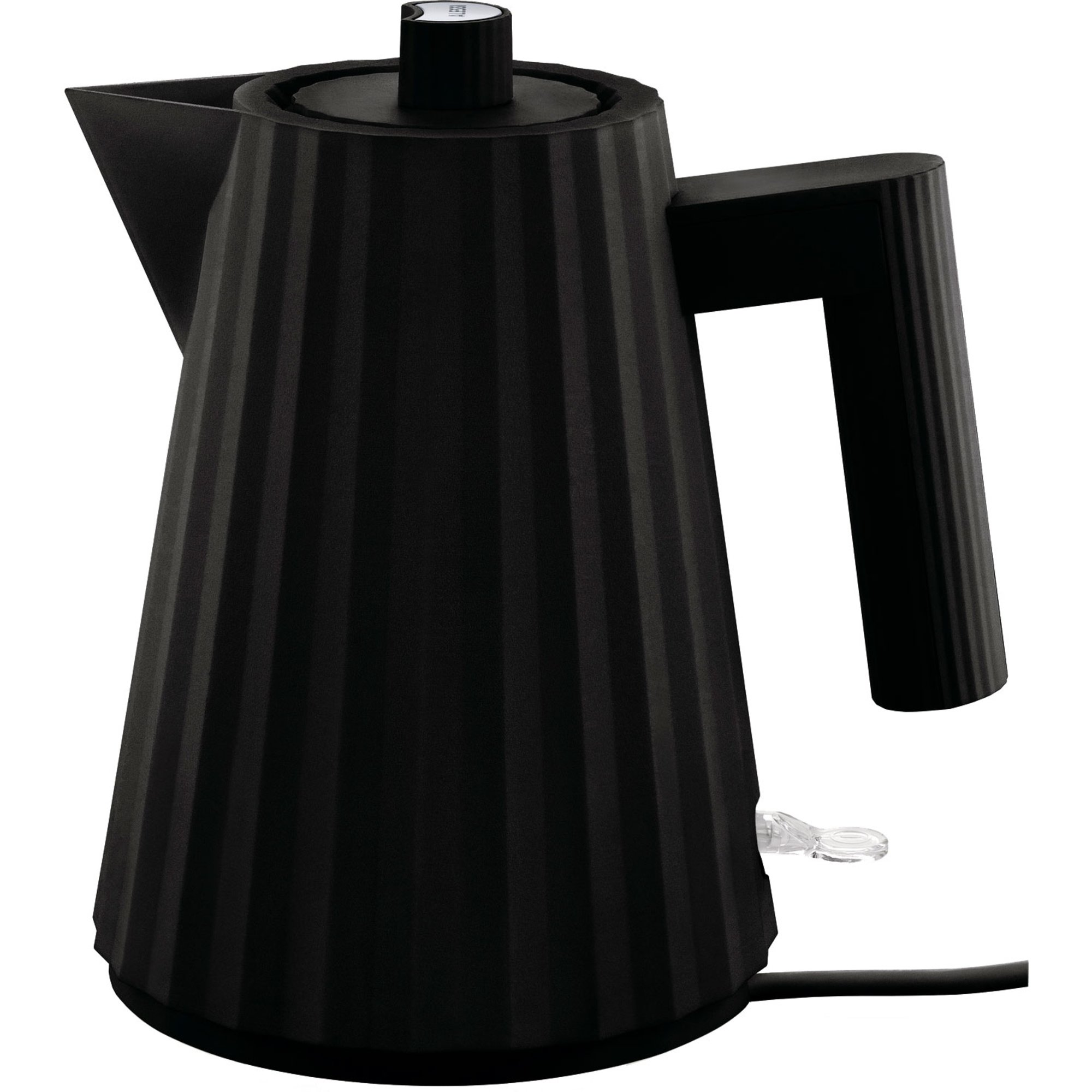 Alessi MDL06 Plissé vattenkokare 1 liter svart