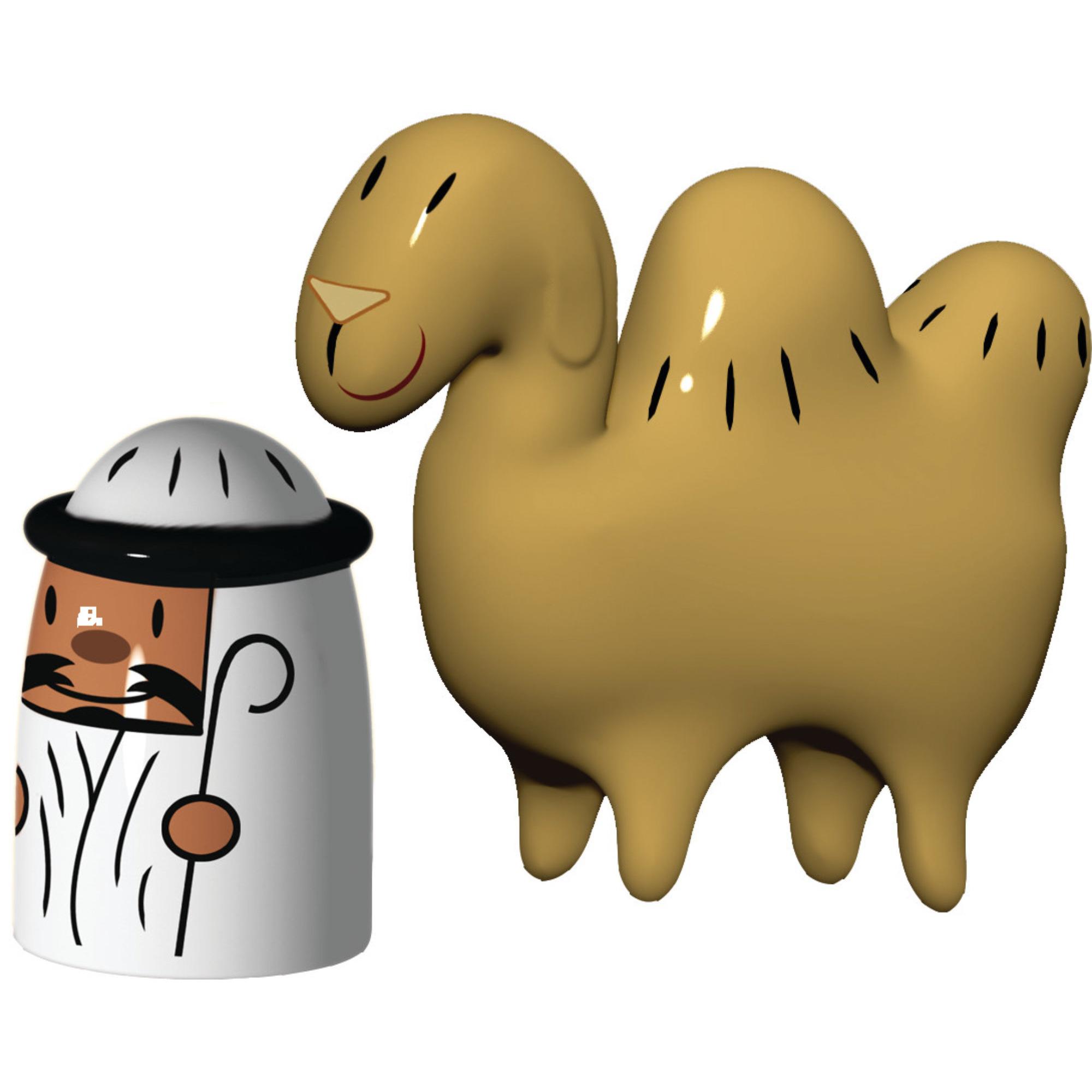 Alessi Porslinsfigurer Amir och Kamelen