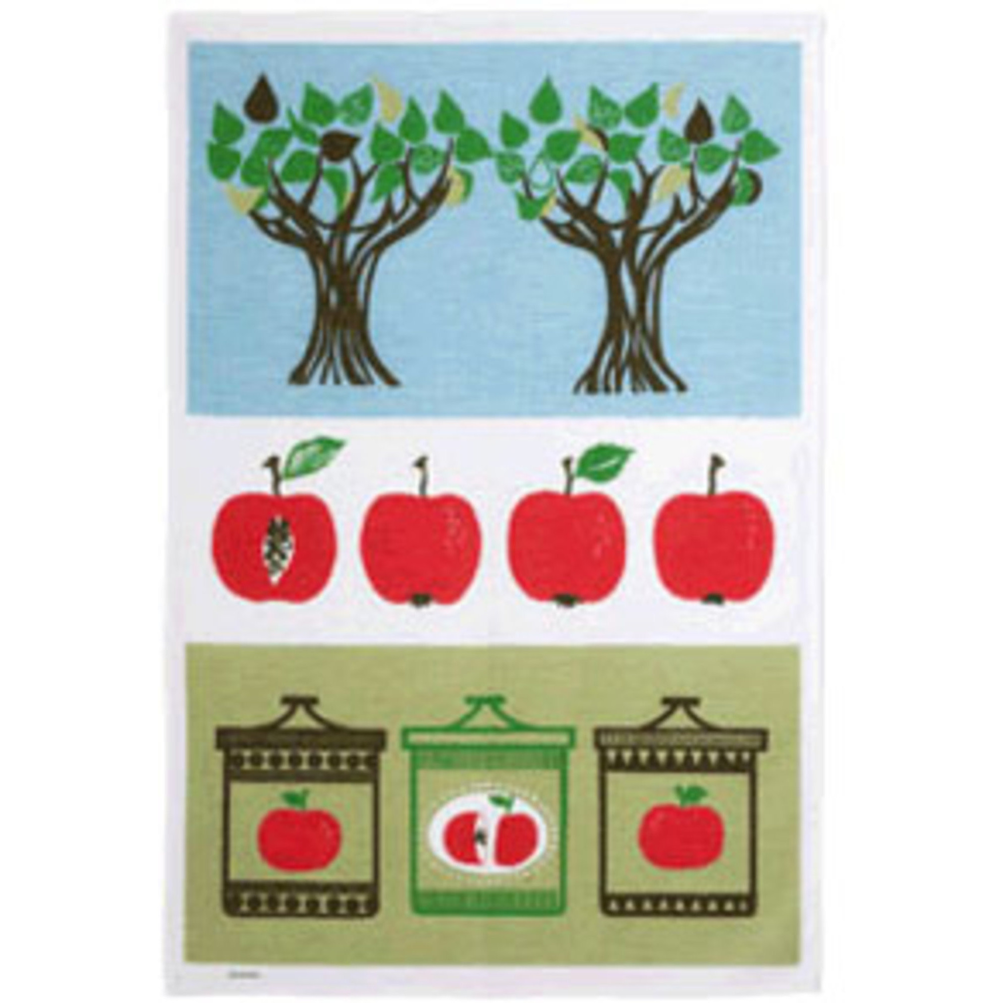 Almedahls Äppelsylt Kökshandduk Röda Äpplen