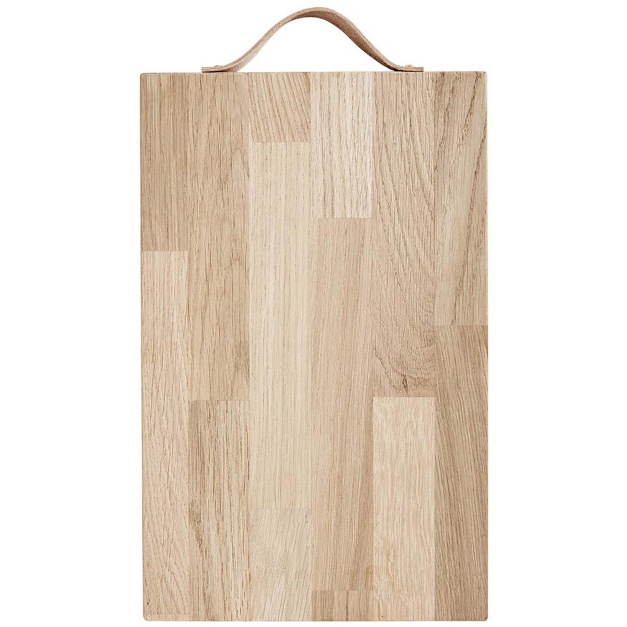 Andersen Furniture Serveringsbräda med läderhandtag 38 x 24 cm Oak