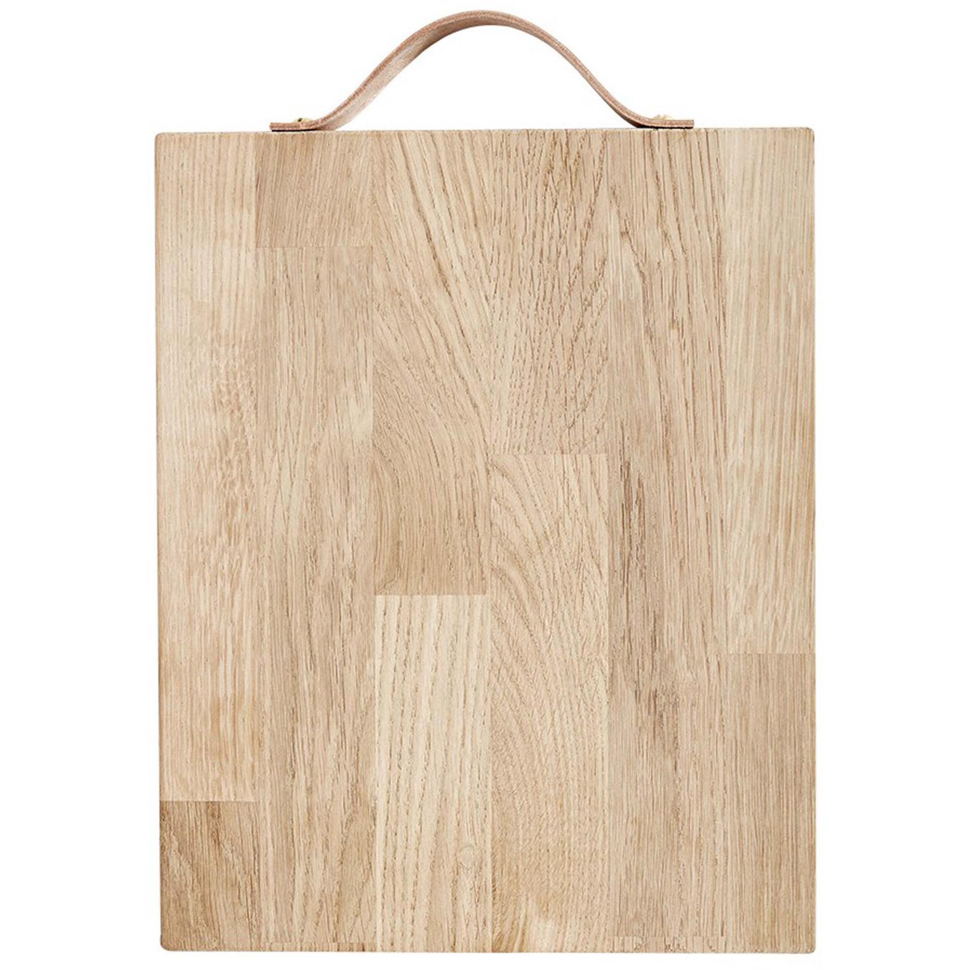 Andersen Furniture Serveringsbräda med läderhandtag 30 x 24 cm Oak
