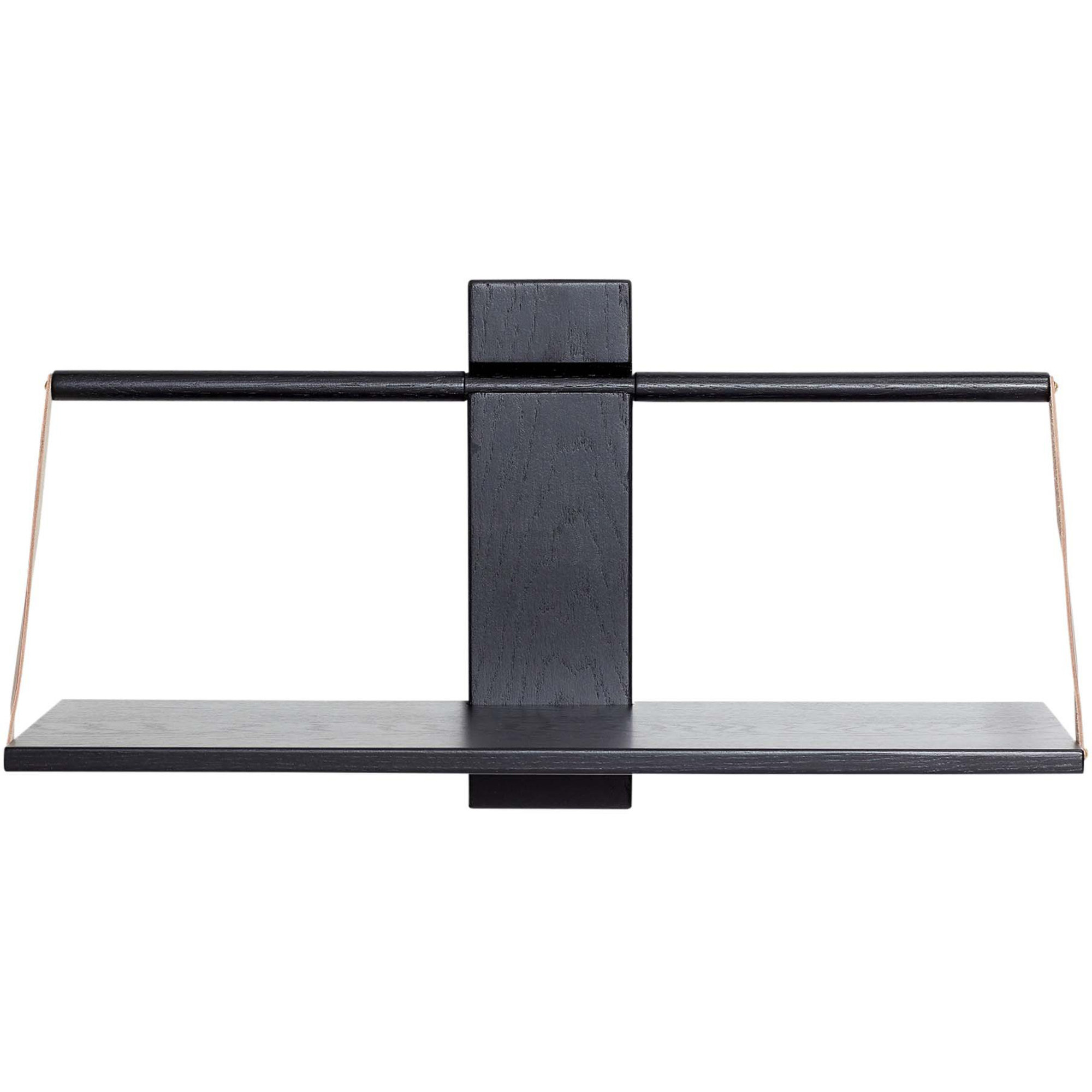 Andersen Furniture Wood wall Shelf 60 x 25 x 32 cm Large Black