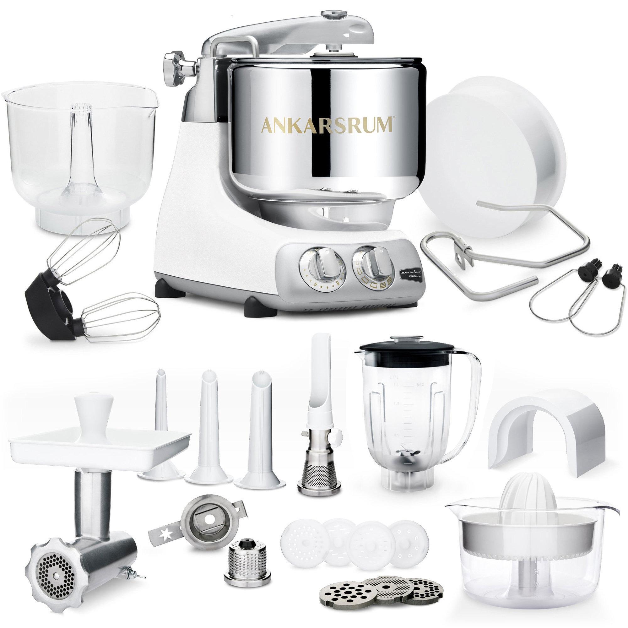 Bilde av Ankarsrum Akm 6290 Kjøkkenmaskin Original Glossy White Med Den Store Tilbehørspakken - Deluxe