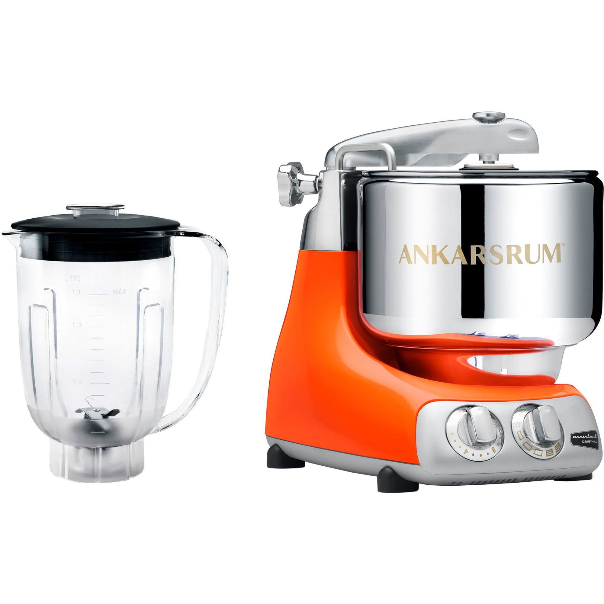 Ankarsrum Assistent Original Pure Orange AKM6230 PO med Blender i Tritan