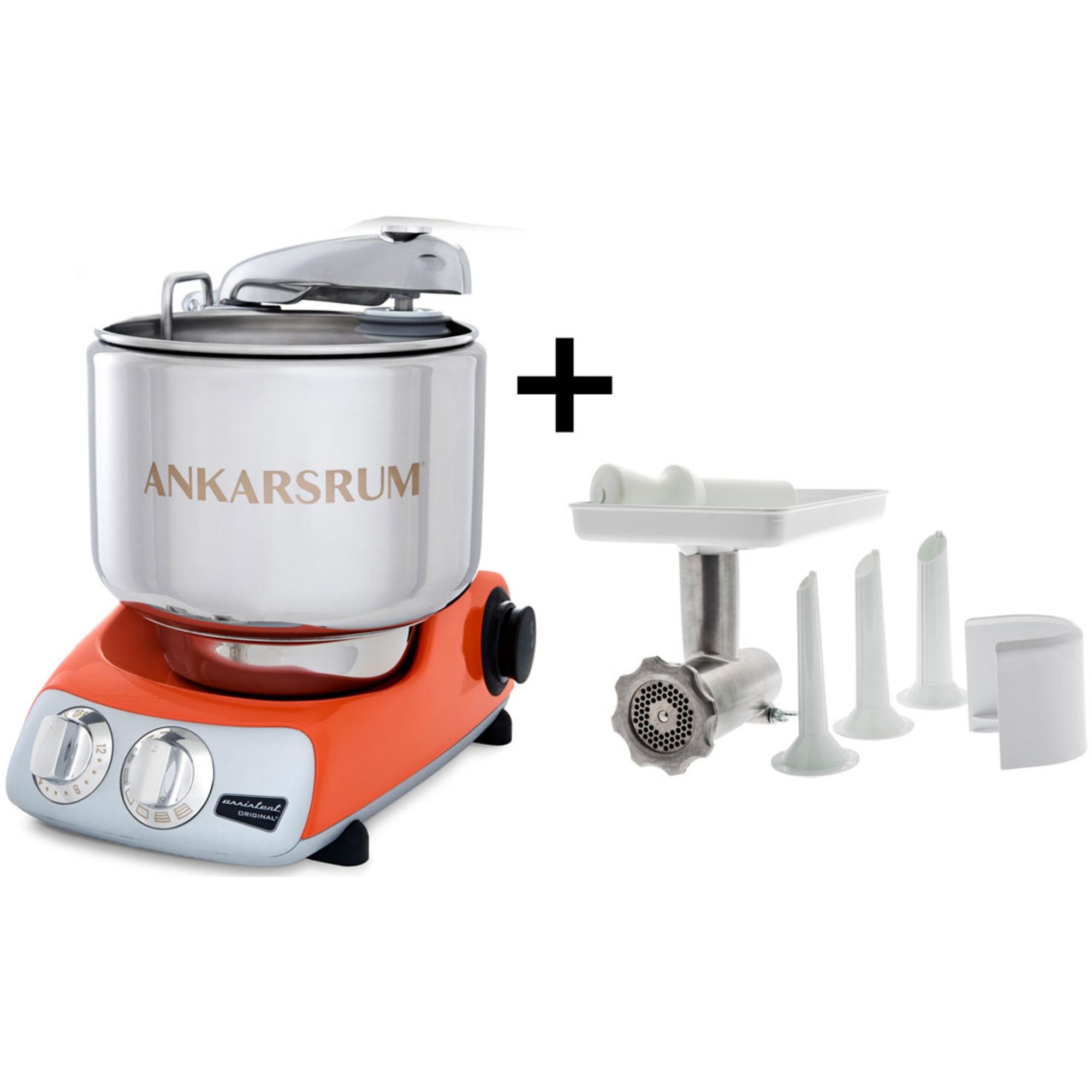 Ankarsrum Assistent Original AKM6230PO Pure Orange med Köttkvarnspaket