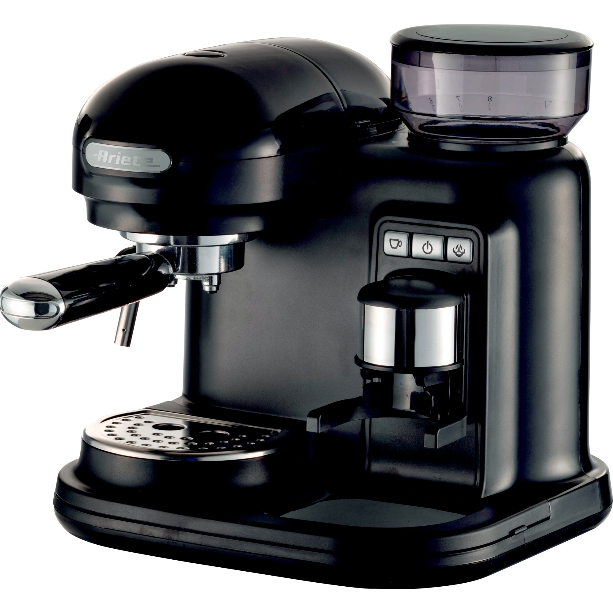 Ariete Moderna Espressomaskin med kaffekvarn svart