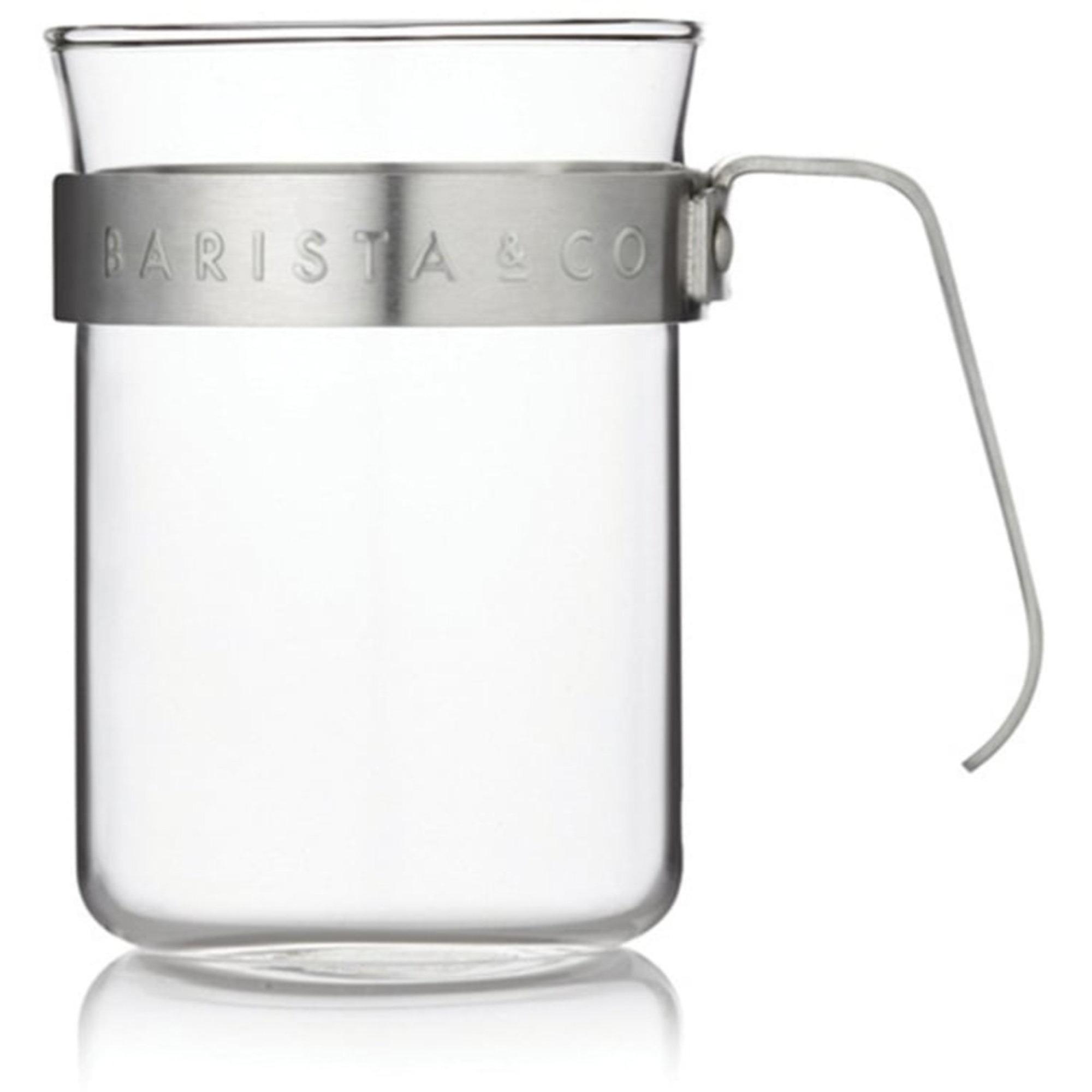 Barista & Co. 2 st. koppar med borstat stålring